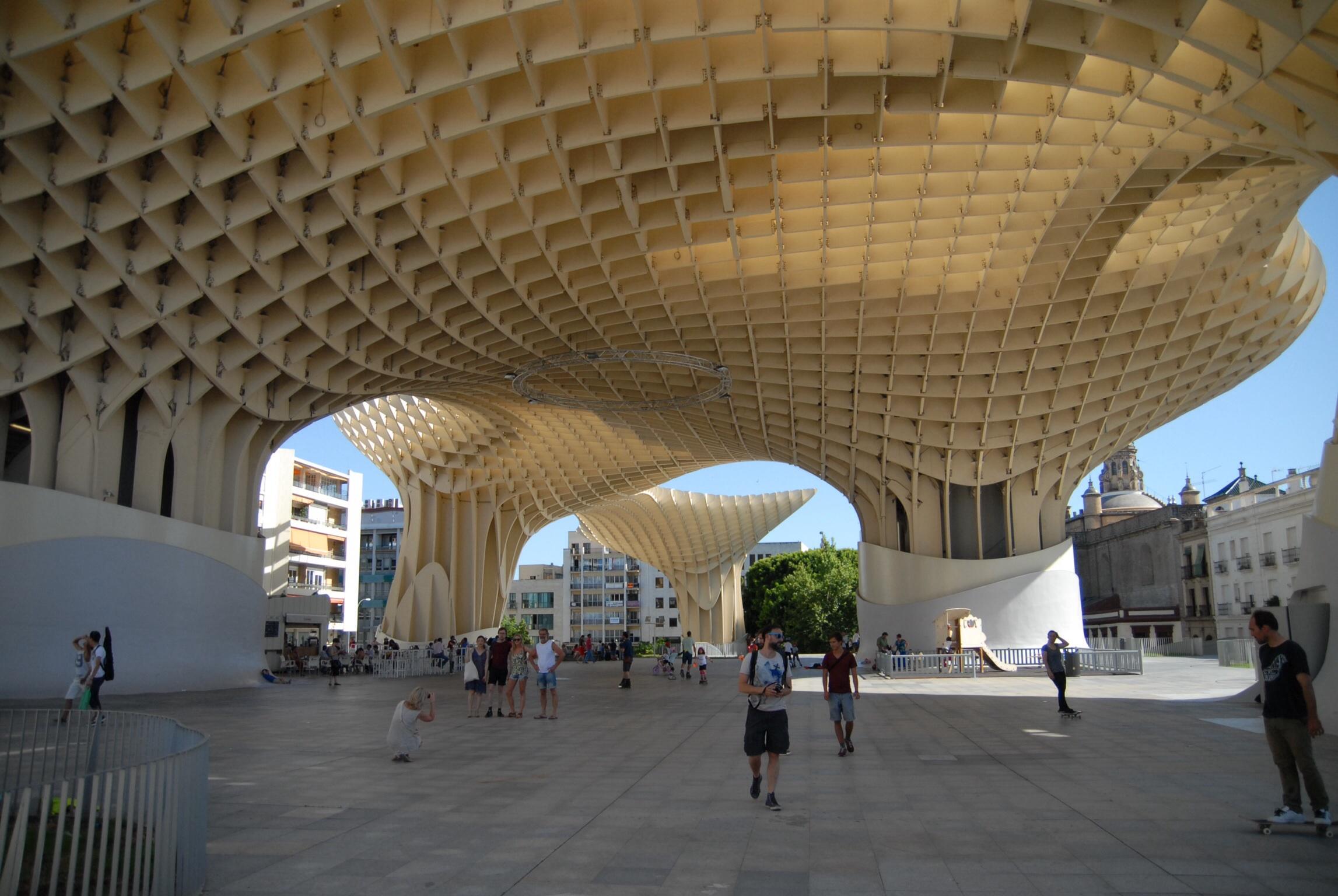Sevilla, 2014, Metropol Parasol. Oder eben mushroom.