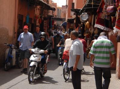2014, Marrakesch, Medina's turbulentes Treiben