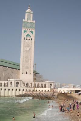 Casablanca, 2014, Moschee Hassan II., Am Freitag ist hier mal Badetag.