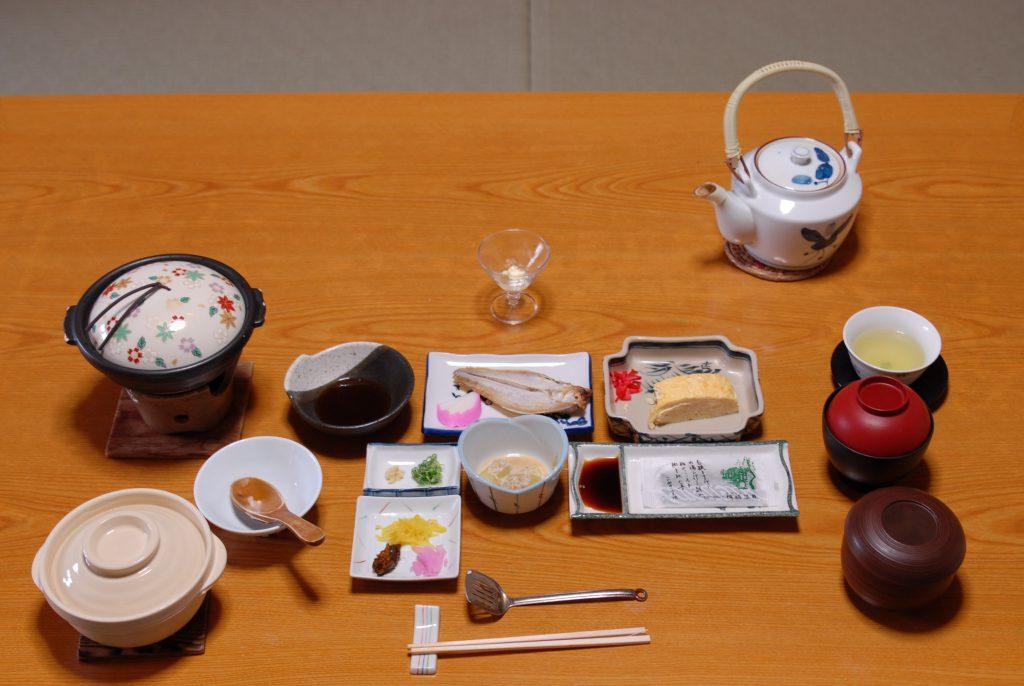 Kinosaki, 2016, Ryokan, japanisches Frühstück
