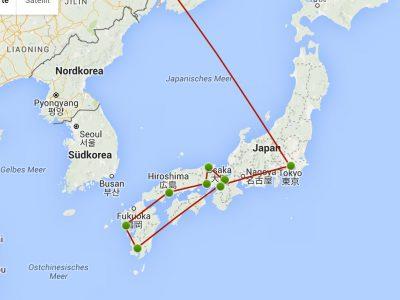 Japan, 2016, Reiseplan gegen die Goldene Woche